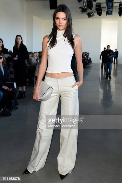 Model Kendall Jenner attends the Calvin Klein Collection Fall 2016 fashion show during New York Fashion Week at Spring Studios on February 18 2016 in...