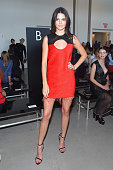 Model Kendall Jenner attends the Calvin Klein Collection Spring 2016 fashion show during New York Fashion Week The Shows at Spring Studios on...