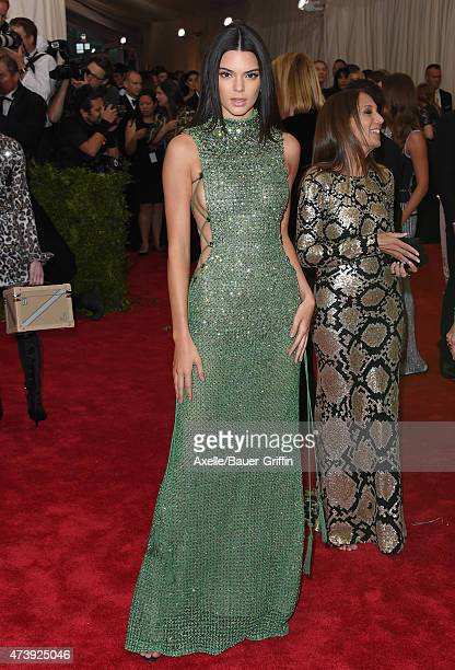 Model Kendall Jenner attends the 'China Through The Looking Glass' Costume Institute Benefit Gala at the Metropolitan Museum of Art on May 4 2015 in...