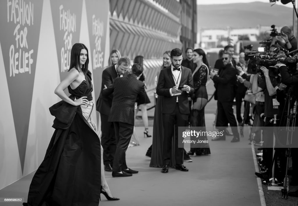 Model Kendall Jenner attends the Fashion for Relief event during the 70th annual Cannes Film Festival at Aeroport Cannes Mandelieu on May 21, 2017 in Cannes, France.