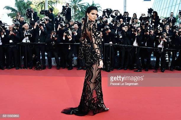 Model Kendall Jenner attends the 'From The Land Of The Moon ' premiere during the 69th annual Cannes Film Festival at the Palais des Festivals on May...