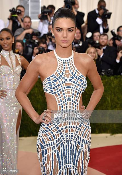 Model Kendall Jenner attends the 'Manus x Machina Fashion In An Age Of Technology' Costume Institute Gala at Metropolitan Museum of Art on May 2 2016...