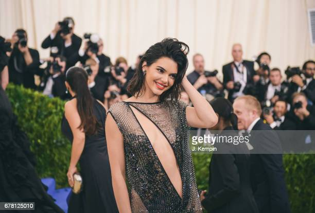Model Kendall Jenner attends the 'Rei Kawakubo/Comme des Garcons Art Of The InBetween' Costume Institute Gala at Metropolitan Museum of Art on May 1...