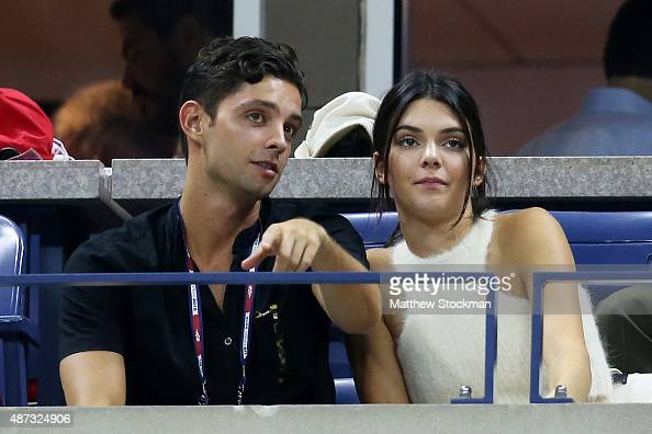 Model Kendall Jenner attends the Women's Singles Quarterfinals match between Serena Williams of the United States and Venus Williams of the United...
