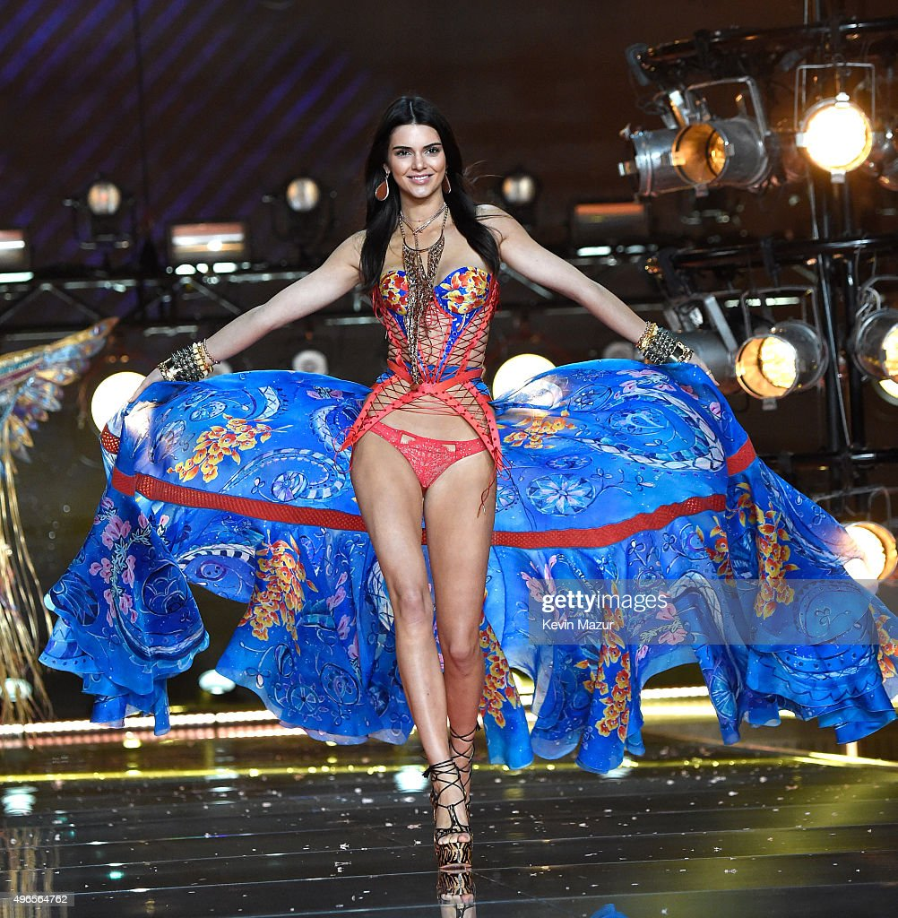 Model Kendall Jenner from California walks the runway during the 2015 Victoria's Secret Fashion Show at Lexington Armory on November 10, 2015 in New York City.