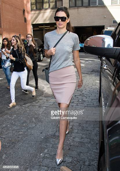 Model Kendall Jenner is seen arriving at Michael Kors fashion show during Spring 2016 New York Fashion Weekon September 16 2015 in New York City