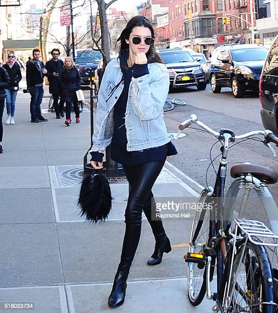 Model Kendall Jenner is seen heading to Gemma Restaurant at Bowery Hotel on March 29 2016 in New York City