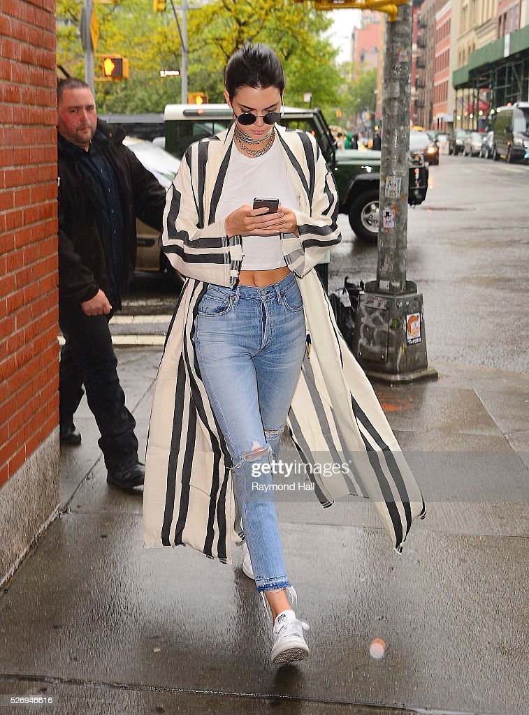 Model Kendall Jenner is seen walking in Soho on May 1, 2016 in New York City.