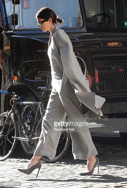 Model Kendall Jenner is seen walking in wall street on October 20 2015 in New York City