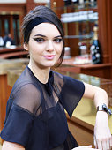 Model Kendall Jenner poses prior the Chanel show as part of the Paris Fashion Week Womenswear Fall/Winter 2015/2016 on March 10 2015 in Paris France