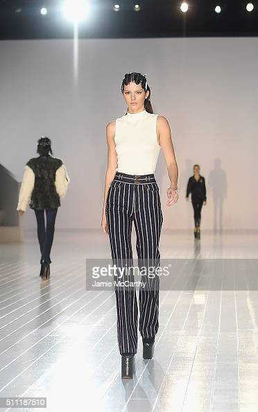 Model Kendall Jenner prepares during rehearsal at Marc Jacobs Fall 2016 fashion show during new York Fashion Week at Park Avenue Armory on February...