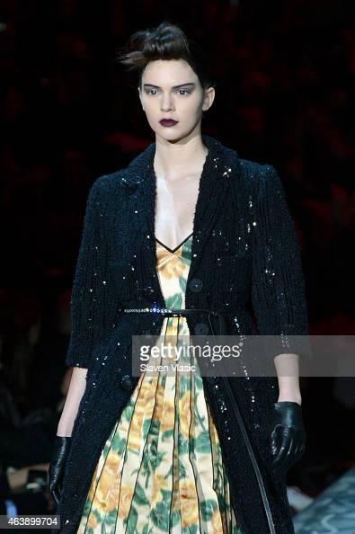 Model Kendall Jenner walks the runway at Marc Jacobs fashion show during MercedesBenz Fashion Week Fall 2015 at Park Avenue Armory on February 19...