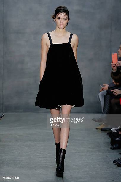 A model Kendall Jenner walks the runway at the Vera Wang fashion show during MercedesBenz Fashion Week Fall 2015 on February 17 2015 in New York City
