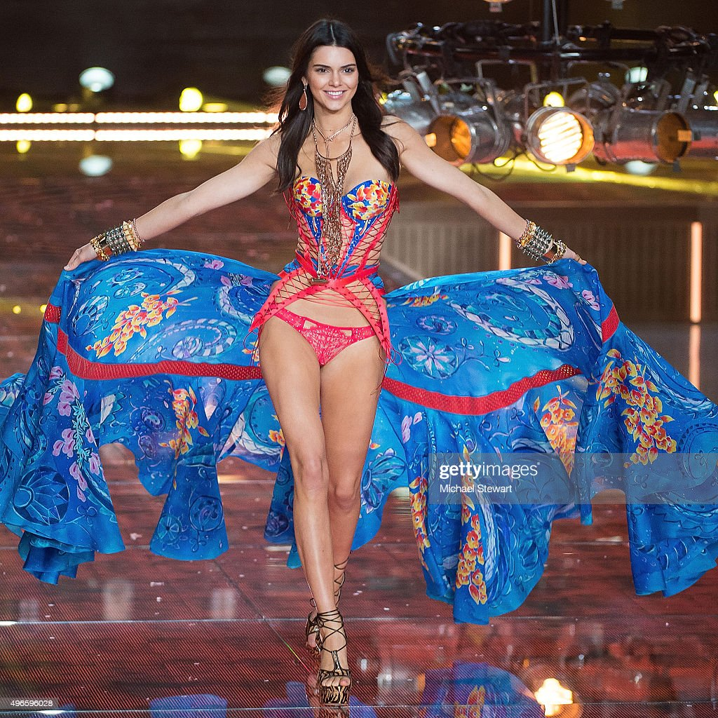 Model Kendall Jenner walks the runway during the 2015 Victoria's Secret Fashion Show at the Lexington Armory on November 10, 2015 in New York City.