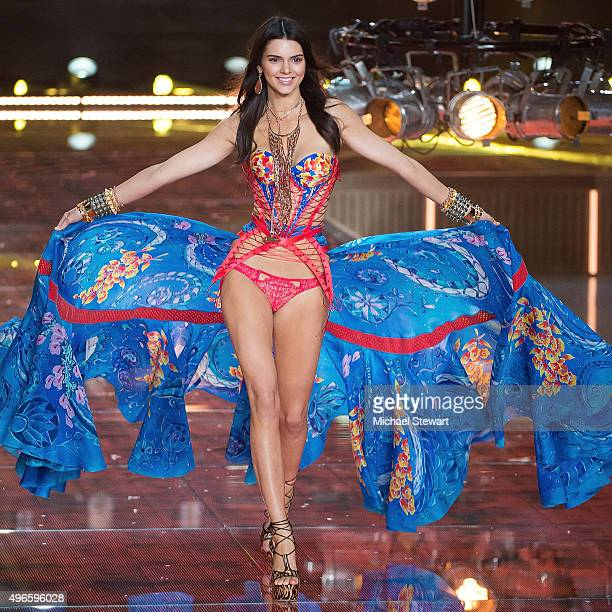 Model Kendall Jenner walks the runway during the 2015 Victoria's Secret Fashion Show at the Lexington Armory on November 10 2015 in New York City
