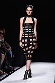 Model Kendall Jenner walks the runway during the Balmain show as part of the Paris Fashion Week Womenswear Spring/Summer 2015 on September 25 2014 in...