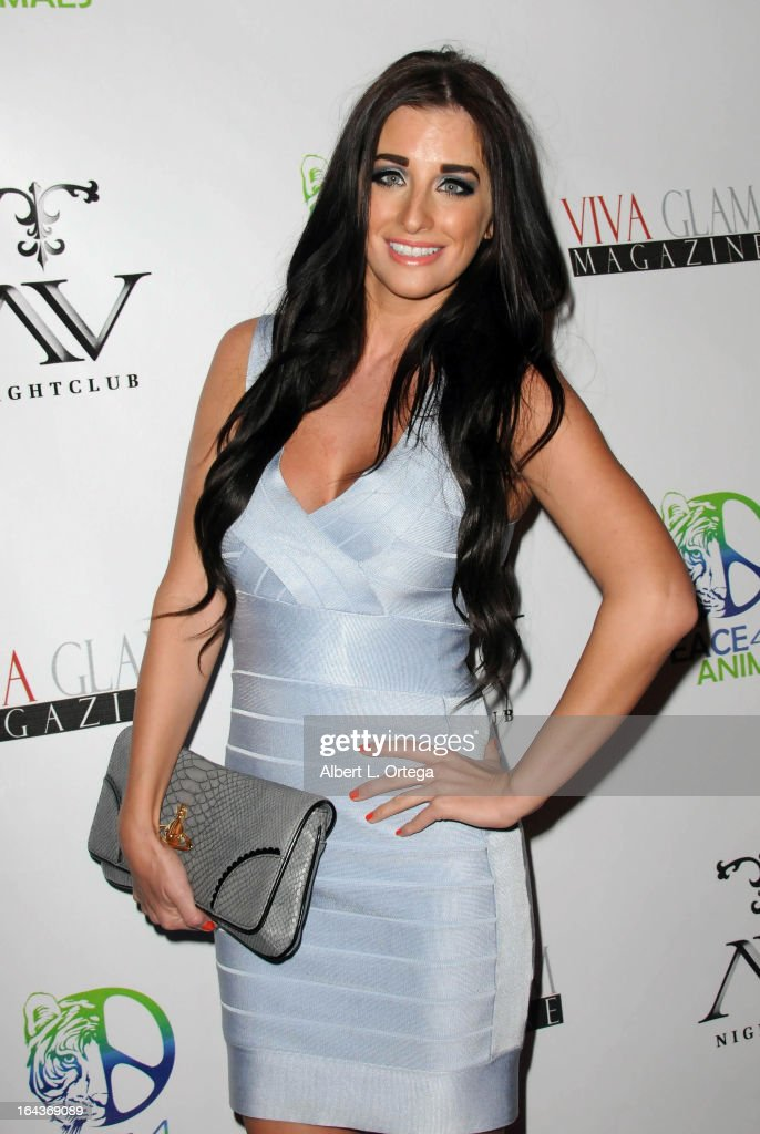 Model Kerri Parker arrives for the Celebration of the Viva Glam Magazine Launch April Issue featuring Katie Cleary to benefit Animals 4 Peace at AV on March 22, 2013 in Hollywood, California.