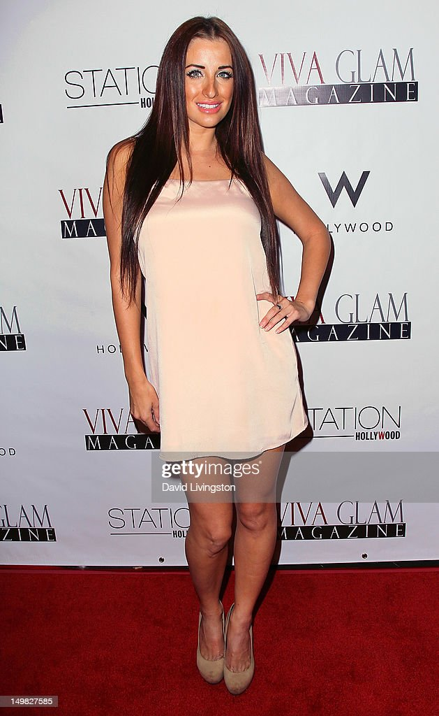 Model Kerri Parker attends the Viva Glam Magazine September Issue launch party at Station Hollywood on July 31, 2012 in Hollywood, California.