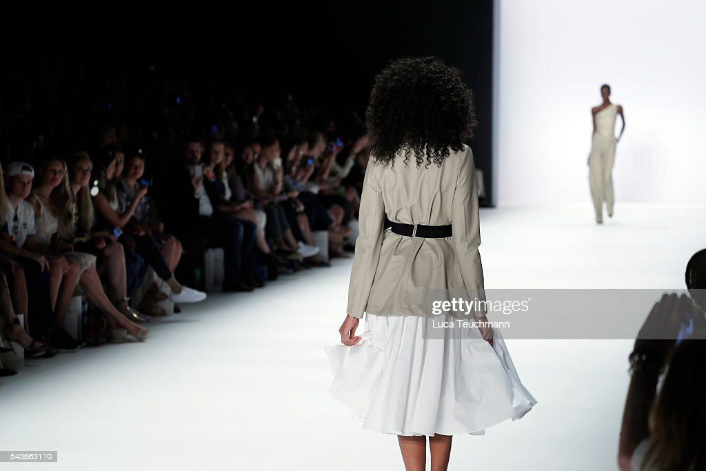 Model Keziah Marie walks the runway at the Dimitri show during the Mercedes-Benz Fashion Week Berlin Spring/Summer 2017 at Erika Hess Eisstadion on June 30, 2016 in Berlin, Germany.