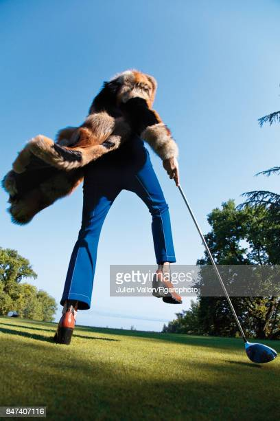 Model poses at a fashion shoot for Madame Figaro on June 22 2017 in EvianlesBains France All PUBLISHED IMAGE CREDIT MUST READ Julien...