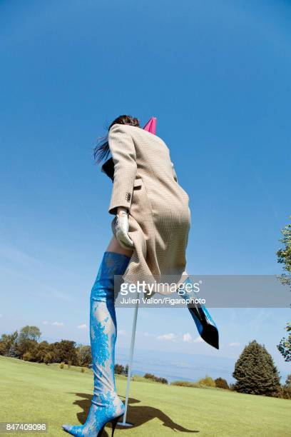 Model poses at a fashion shoot for Madame Figaro on June 22 2017 in EvianlesBains France Coat and boots glove PUBLISHED IMAGE CREDIT MUST READ Julien...