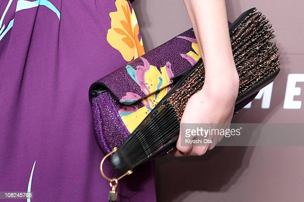 Model Kiko Mizuhara attends the 'Somewhere' preview and reception at Louis Vuitton Roppongi Hills on January 22 2011 in Tokyo Japan The film will...