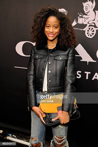 Model Kilo Kish attends Coach Backstage Rodeo Drive on December 11 2014 in Beverly Hills California
