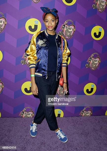 Model Kilo Kish attends Just Jared's Way To Wonderland presented by Ever After High at Greystone Manor Supperclub on August 27 2015 in West Hollywood...