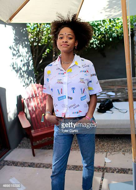 Model Kilo Kish attends The Retreat At The Sparrows Lodge on April 12 2015 in Palm Springs California