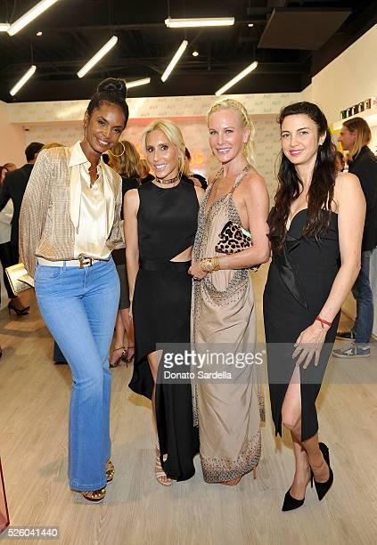 Model Kim Porter designer Alexandra von Furstenberg Normandie Keith and actress Shiva Rose attend the opening of the Alexandra Von Furstenberg Los...