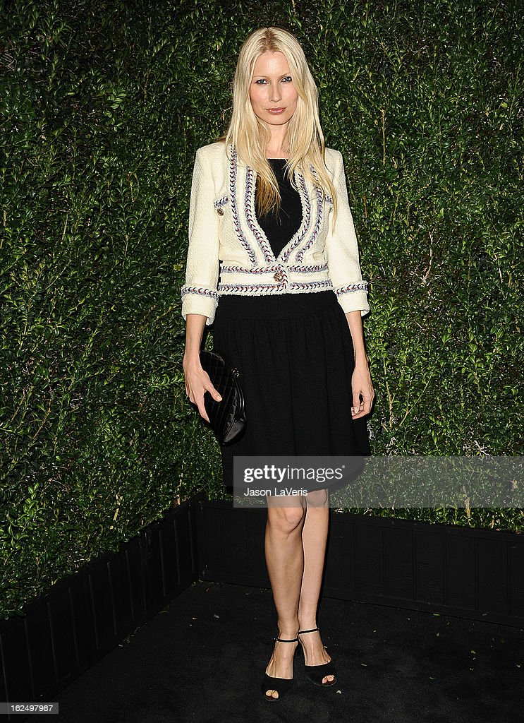 Model Kirsty Hume attends the Chanel Pre-Oscar dinner at Madeo Restaurant on February 23, 2013 in Los Angeles, California.