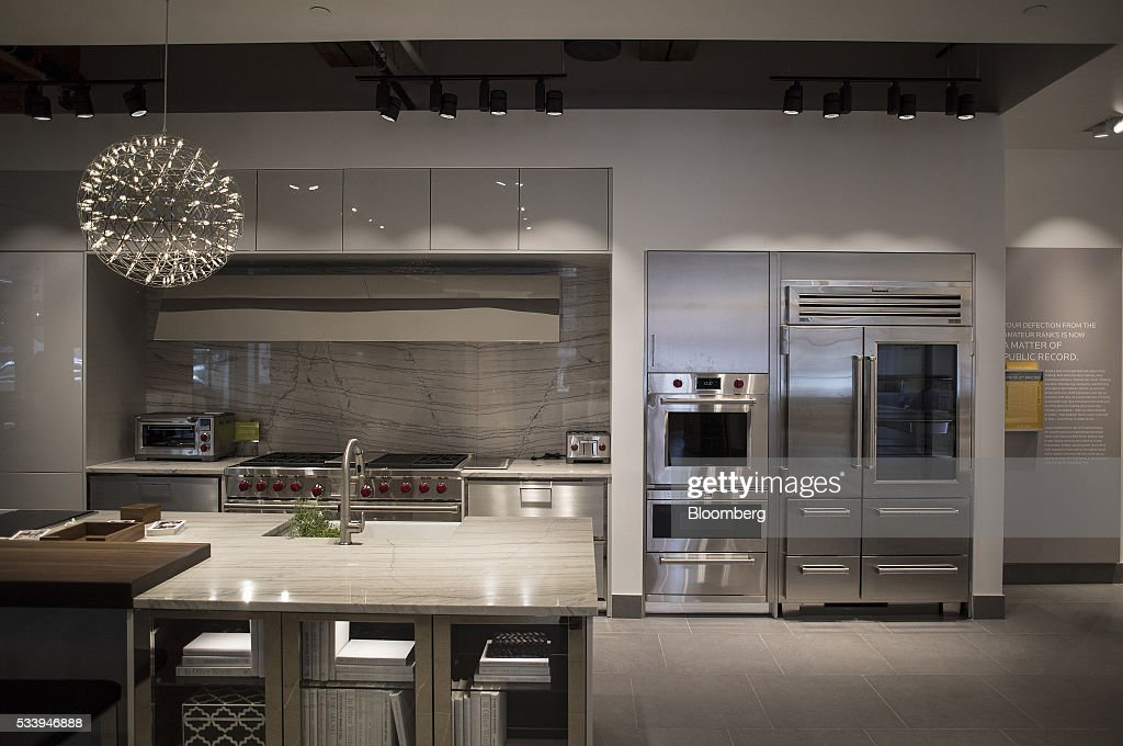 Inside the pirch home design store getty images for Model kitchen images