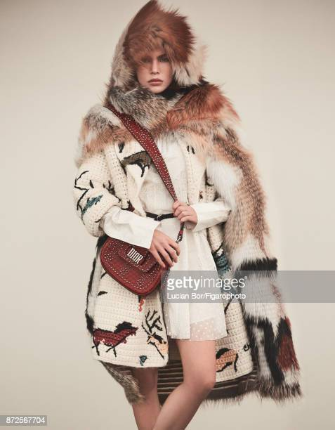 Model poses at a fashion shoot for Madame Figaro on September 12 2017 in Paris France All PUBLISHED IMAGE CREDIT MUST READ Lucian...