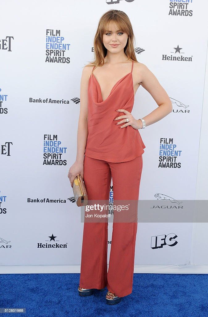 Model Kristina Bazan arrives at the 2016 Film Independent Spirit Awards on February 27, 2016 in Los Angeles, California.