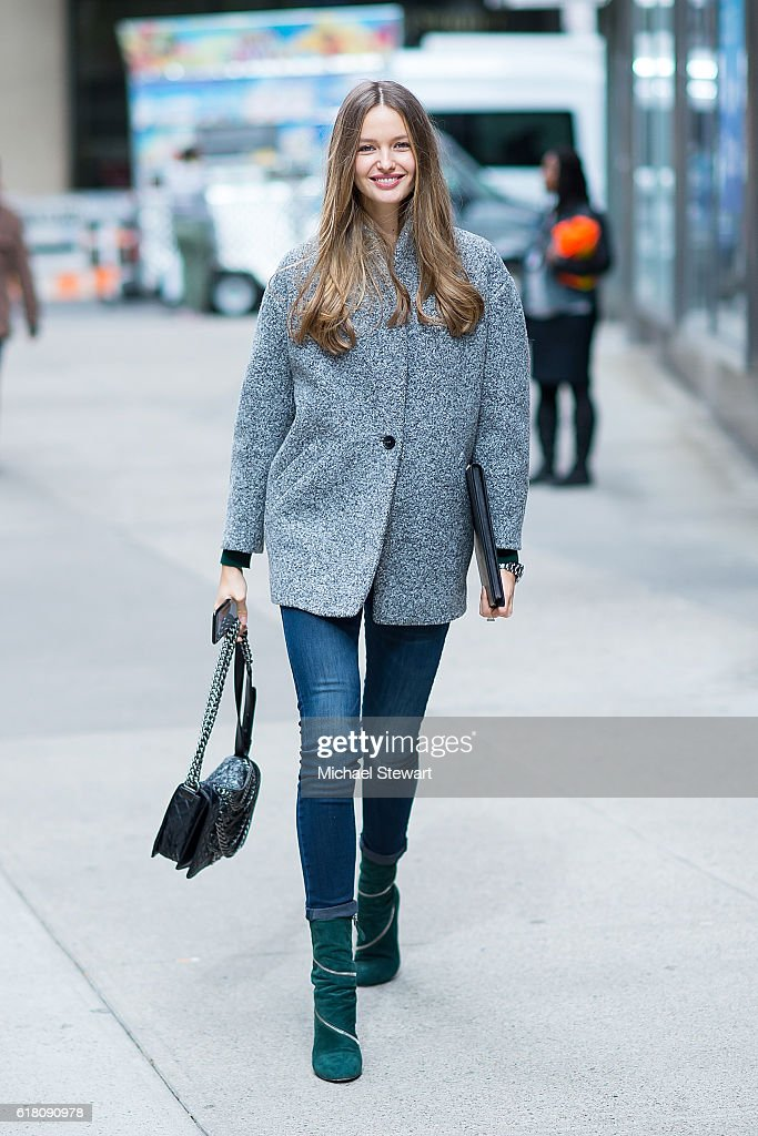 Model Kristina Romanova attends the 2016 Victoria's Secret Fashion Show call backs on October 25, 2016 in New York City.
