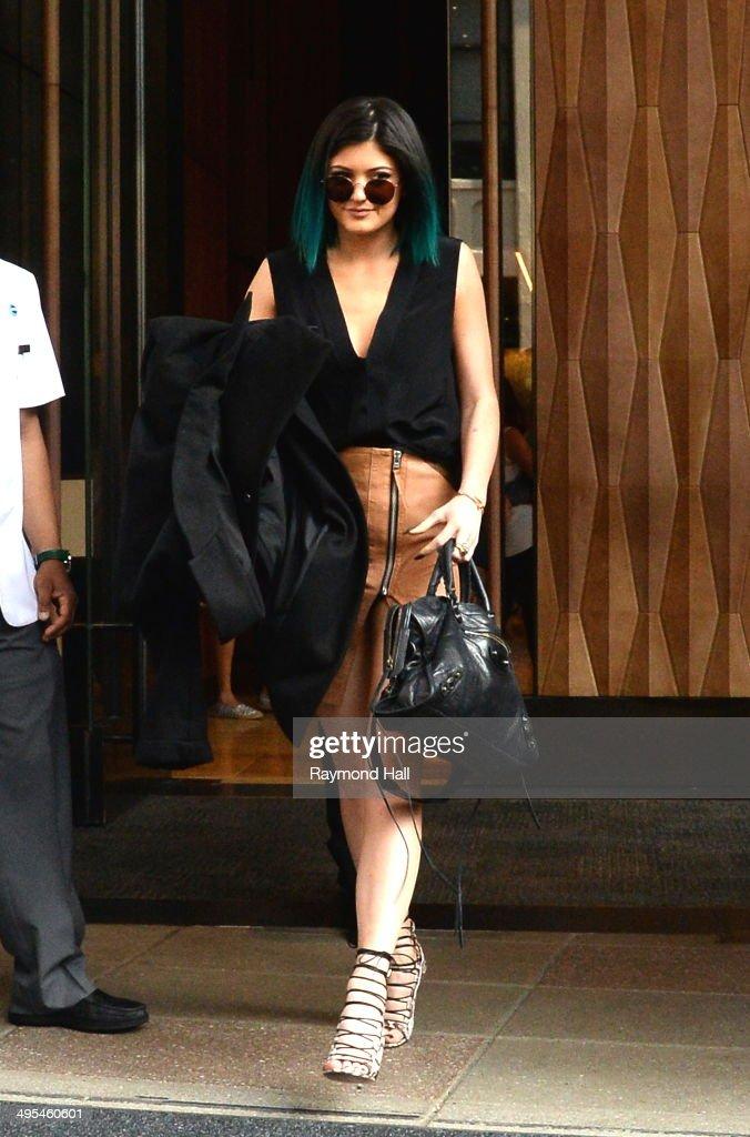 Model Kylie Jenner is seen in Soho on June 3, 2014 in New York City.