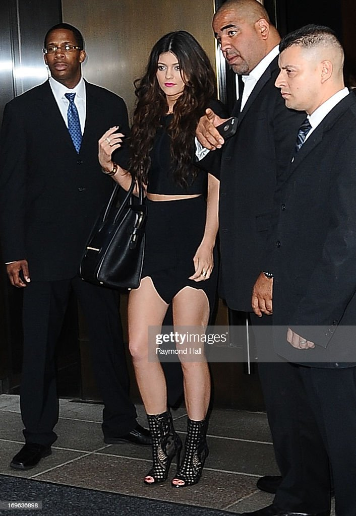 Model Kylie Jenner is seen outside Trump SoHo Hotel on May 29, 2013 in New York City.