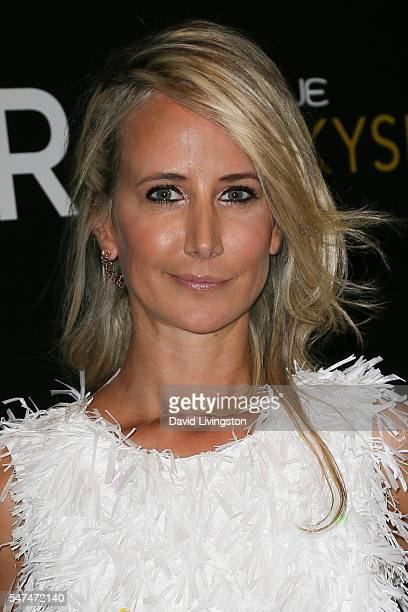 Model Lady Victoria Hervey arrives at the Launch of OUE Skyspace LA at the US Bank Tower on July 14 2016 in Los Angeles California