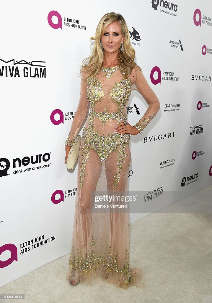 Model Lady Victoria Hervey attends Bulgari at the 24th Annual Elton John AIDS Foundation's Oscar Viewing Party at The City of West Hollywood Park on February 28, 2016 in West Hollywood, California.