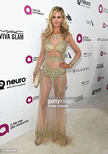 Model Lady Victoria Hervey attends Bulgari at the 24th Annual Elton John AIDS Foundation's Oscar Viewing Party at The City of West Hollywood Park on...