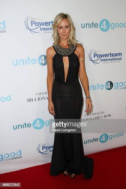 Model Lady Victoria Hervey attends the 4th annual unite4humanity Gala at the Beverly Wilshire Four Seasons Hotel on April 7 2017 in Beverly Hills...