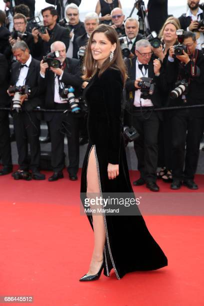 Model Laetitia Casta attends the 'The Meyerowitz Stories' screening during the 70th annual Cannes Film Festival at Palais des Festivals on May 21...