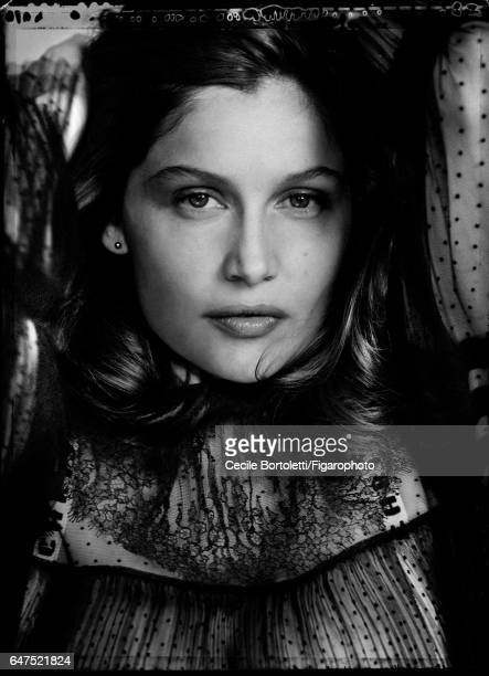 Model Laetitia Casta is photographed for Madame Figaro on January 12 2017 in Paris France Blouse Makeup by Dior PUBLISHED IMAGE CREDIT MUST READ...