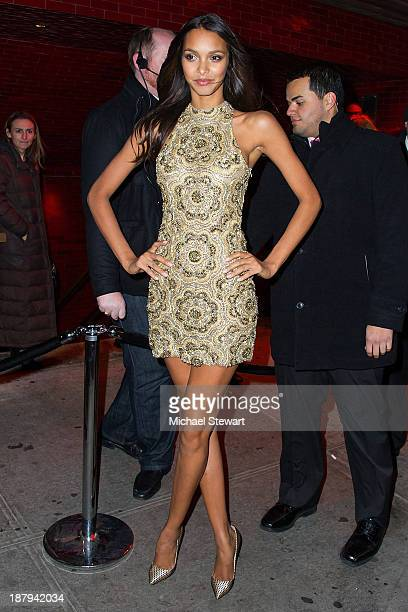 Model Lais Ribeiro arrives at the 2013 Victoria's Secret Fashion Show after party at Tao Downtown on November 13 2013 in New York City