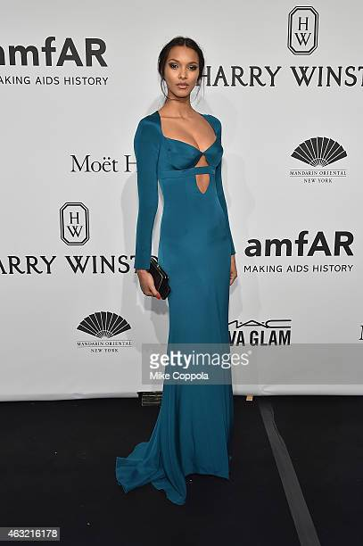 Model Lais Ribeiro attends the 2015 amfAR New York Gala at Cipriani Wall Street on February 11 2015 in New York City