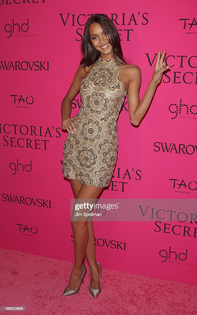 Model <a gi-track='captionPersonalityLinkClicked' href=/galleries/search?phrase=Lais+Ribeiro&family=editorial&specificpeople=7178171 ng-click='$event.stopPropagation()'>Lais Ribeiro</a> attends the after party for the 2013 Victoria's Secret Fashion Show at TAO Downtown on November 13, 2013 in New York City.