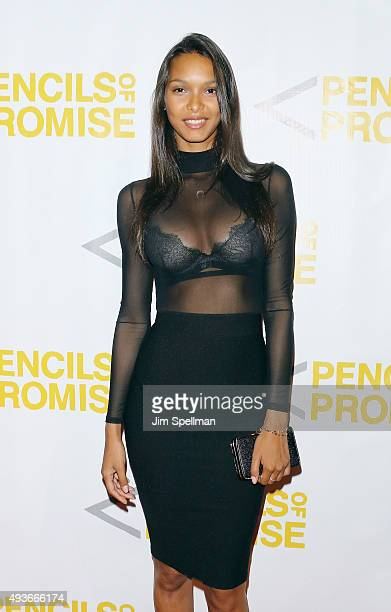 Model Lais Ribeiro attends the Pencils Of Promise Gala 2015 at Cipriani Wall Street on October 21 2015 in New York City