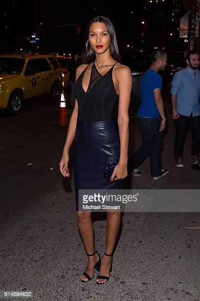 Model Lais Ribeiro attends the Victoria's Secret Swim viewing party at Marquee on March 9 2016 in New York City