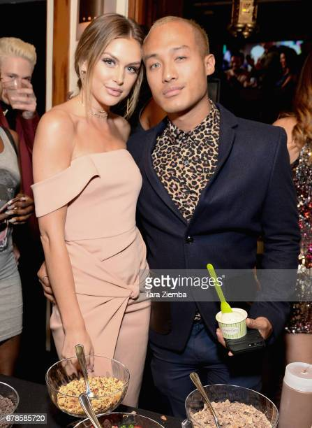 Model Lala Kent and singer Jesse Montana attend the 'This Is LA' Premiere Party at Yamashiro Hollywood on May 3 2017 in Los Angeles California