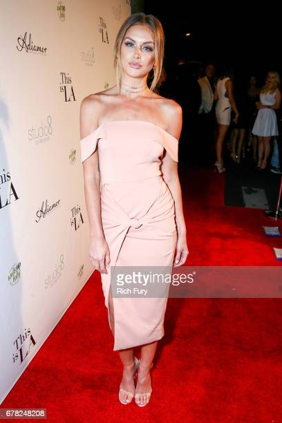 Model Lala Kent attends the 'This Is LA' Premiere Party at Yamashiro Hollywood on May 3 2017 in Los Angeles California